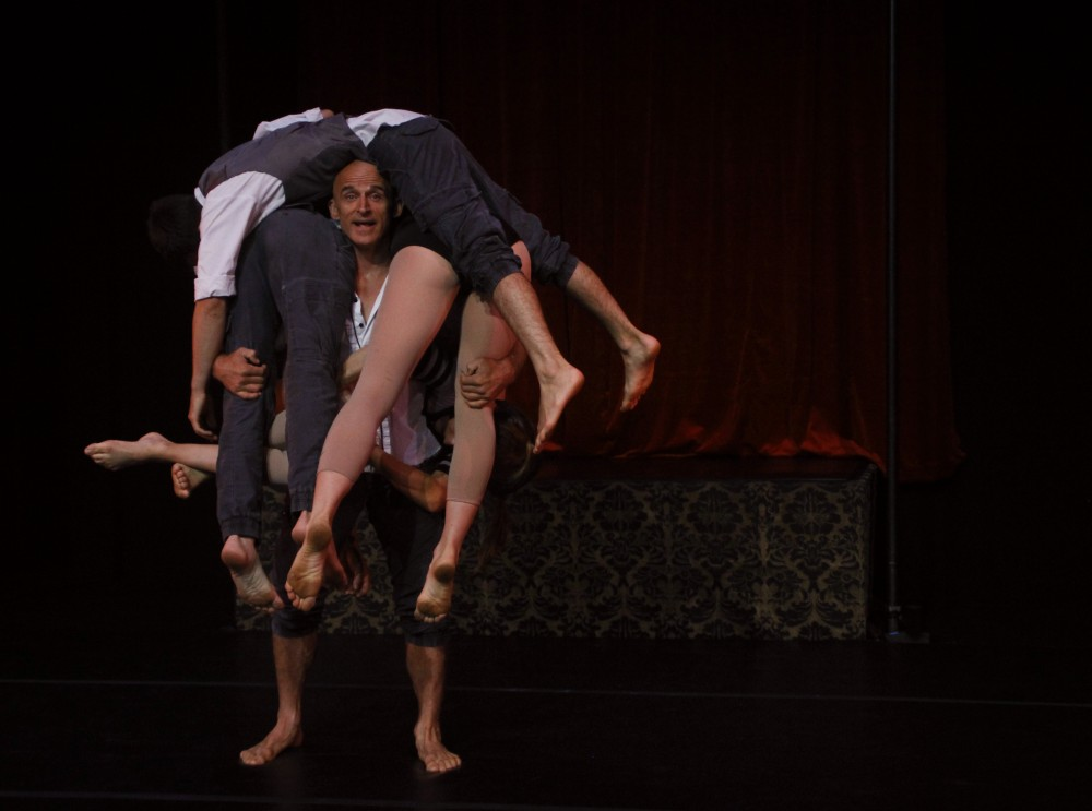 'Highlights include...a man lifting four performers at once by having them wrap themselves around him without so much as breaking a sweat.' Photo by Carina Florea