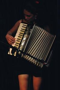 Naomi Matthyssen on the accordion. Photo by Carina Florea