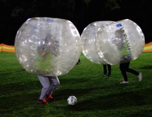 Bubble soccer at play