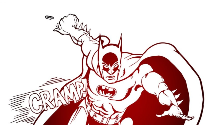 batman with tampons