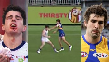 AFL EAGLES DOCKERS ANDREW GAFF PUNCH
