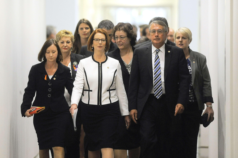 AUSTRALIA-POLITICS-VOTE-GILLARD
