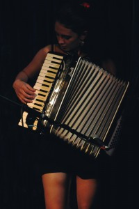 Naomi Matthyssen on the accordion. Photo by Carina Florea