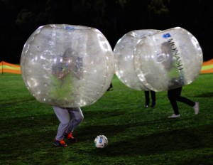 Bubble soccer at play
